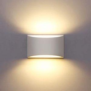 Appliques Murales Interieur, Blanc Lampe Murale LED 7W Blanc Chaud Moderne Applique Murale en Plâtre pour Chambre Maison Couloir Salon (G9 LED ampoule Inclure) (JMHong, neuf)