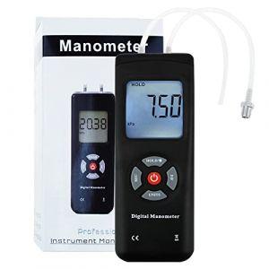 Manomètre de Digital, vide tenu dans le mètre de mesure portatif de pression d'air/gaz (GainExpress, neuf)