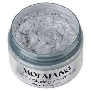 ILOVEDIY Cire Coiffante Cheveux Gel Colorant Cheveux Coloration Cheveux Temporaire pour Homme Femme (Argent Gris) (YWCTing, neuf)