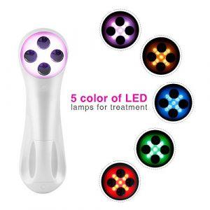 Ultrasonique LED Lumière Appareil de Beauté,5 Modes Mésothérapie de Appareil de Massage du Visage avec,Appareil pour les Soins du Peau, Cou, Visage, Yeux, Anti-vieillissement et éliminer les Rides (boyangtongxun, neuf)