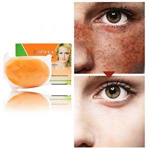 Symeas Papaye naturelle Blanchiment de la peau Savon anti-taches de rousseur Soins du visage Savon nettoyant éclaircissant pour la peau Réduire les taches brunes (Someas, neuf)