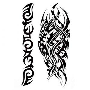 Tribal Tattoo Noir temporaire Arm Bras tatouage autocollants j524 (Beyond Perfection, neuf)