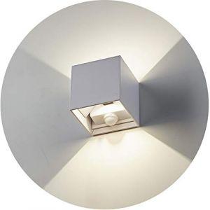 Topmo-plus 12W Luminaire mural avec détecteur de mouvement/LED Puri COB applique murale pour intérieur/extérieur Réglable éclairage aluminium Couloir/Chambre/jardin/Balcon 4000K 10CM (Blanc) (Topmo-FR, neuf)