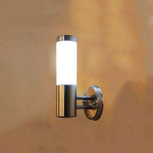 Dicai Moderne Simplicity Applique Américaine Extérieure Applique Murale Étanche Jardin Lampe En Acier Inoxydable Haute Qualité Applique Murale 1 Lumière E27 Edison Applique Industrielle Passerelle En (Xin Hongming, neuf)