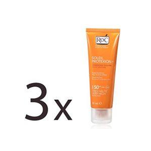 RoC Soleil Protexion+ Crème hydratation veloutée Désaltérante SPF 50+ (Lot de 3) (Euridice SAS, neuf)