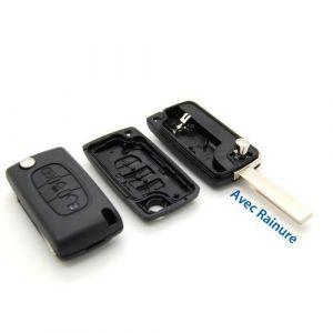 Pro-Plip CLE PLIP TELECOMMANDE Bouton Phare Coque Citroen C4 Picasso avec rainure CE0536 (Pro-Plip, neuf)