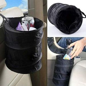 Airymap Poubelle de Voiture Pliante Garbage Peut Portable Sac Poubelle pour Véhicule Pliable Sac de Poubelle Universel pour Poubelle Organisateur Trash Déchets Accessoires (Noir) (Airymap, neuf)