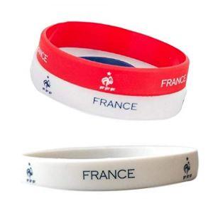 bijouparis Bracelet supporter coupe du monde 2018 silicone drapeau France le bleus griezmann lot de 3 (MONTRE-STYLE, neuf)