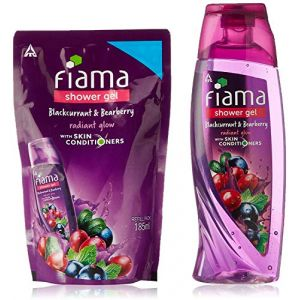 Fiama groseille noire Bearberry Eclat Gel douche, 250 ml avec Free Pack Recharge, 185 ml (INDIAN CRAFT AND CULTURE, neuf)