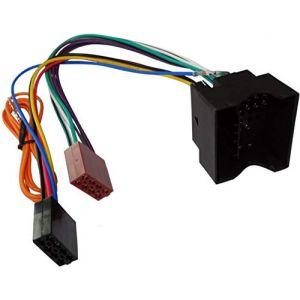 AERZETIX Adaptateur câble fiche ISO G1 pour autoradio compatible PEUGEOT CITROEN (Tuning, neuf)