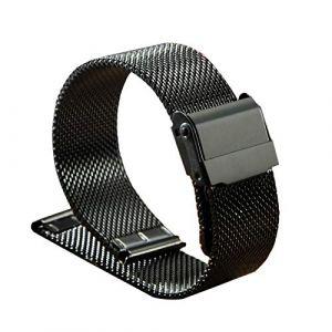 WSLCN Bracelet De Montre en Acier Inoxydable Vintage Rétro Bracelet Montre de Grain Bande à Dégagement Rapide pour Homme Femme B 22mm (light-in-the-dark, neuf)
