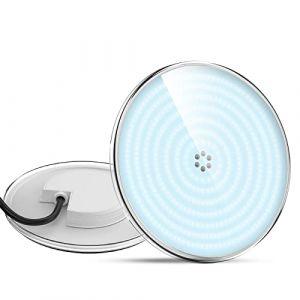 LyLmLe Projecteur Piscine LED Remplie de Résine,PAR56 35W Lampe Piscine(équivalent ampoule halogène 300W), 3500lm, angle de faisceau 140 °, IP68 étanche, 12V AC/DC,6000K (Raypole International, neuf)