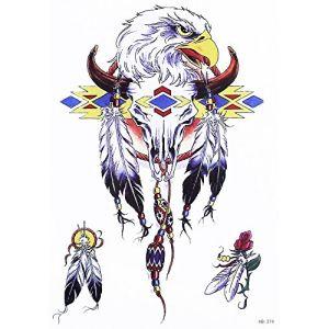Tribal Attrape-rêves Ressort Taureau tatouage Multicolore Faux tatouages hb374 (Beyond Perfection, neuf)