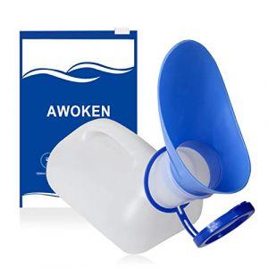 Urinoir Unisexe pour Voiture, Urinoir Toliet pour Hommes et Femmes, Bouteilles Pee Bedpans, Avec Couvercle et Entonnoir, Boîte en Plastique pour Voiture, Vieil Homme, Enfant pour Camping Outdoor (Fonice, neuf)