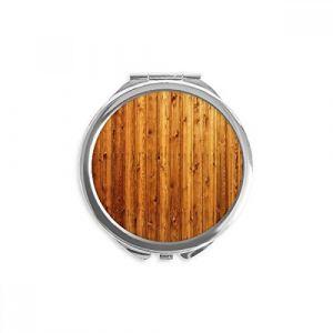 DIYthinker fond d'écran en bois orange sol réfleter ronde maquillage de poche à la main portable 2,6 pouces x 2,4 pouces x 0,3 pouce Multicolore (bestchong, neuf)