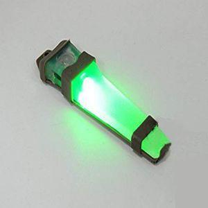 WorldShopping4U Casque sécurité Velcro H414V-Lite Sac à LED E-Lite lumière stroboscopique (Bleu, Vert, Rouge) Lampe Torche Tactique de Base pour extérieur Airsoft Chasse Camping Vert Vert (WorldShopping4U, neuf)