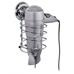 Tatkraft MegaLock Support pour Seche-cheveux Mural Ventouse Acier Chrome 10X12.5X18.5cm ( Neuf Marketplace )