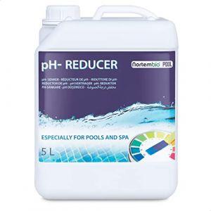 NortemBio Pool pH- Minus 5 L, Réducteur Naturel pH pour Piscine et Spa. Améliore la Qualité de l'eau, Correcteur de pH, Bénéfique pour la Santé. Produit CE. (NortemBio, neuf)