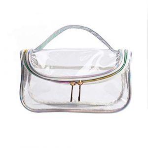 Lurrose trousse de maquillage transparente, trousse de voyage, transparente pour sac de maquillage avec fermeture à glissière et poignée pour dame (s) (bethphia, neuf)