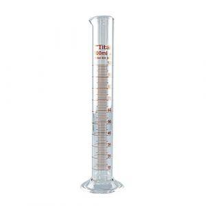Tansoole 100mL Éprouvette Graduée en Verre Borosilicate Laboratoire Éprouvettes Cylindriques Lot de 2 (XRICH, neuf)
