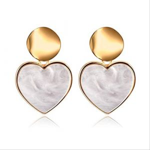 Boucles d'oreilles Boucles d'oreilles de vacances pour femmesBoucles d'oreilles Acrylique Géométrique Rouge Dangle Boucle d'oreille Mariage BrincoHeart 7 (Graceguoer, neuf)