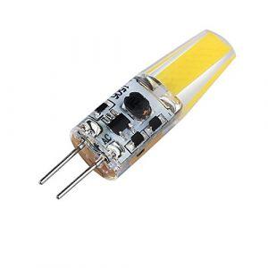 YTJ Ampoule G4 LED 6W 6500K 220LM(Blanc Froid), AC/DC 12V, Angle d'éclairage 360 ° Fabriqué en Silicone LED COB Lumière Dimmable Equivalente à Halogène 25W (Mitoy, neuf)