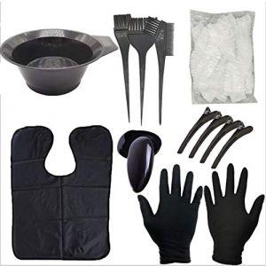 Outils de coloration de cheveux, brosse de couleur de cheveux et bol pour bricolage coloration de cheveux, kit de teinture de cheveux (Tool-Supermart, neuf)