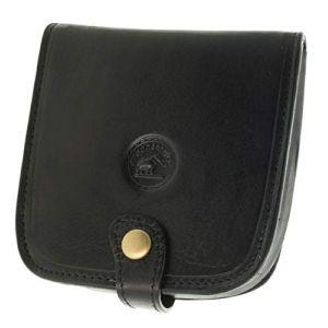 SECRETDRESSING - Porte Monnaie Cuvette Carre Elephant D Or - 100% Cuir de Vachette - Espace pour Billets et Cartes Noir (secretdressing, neuf)