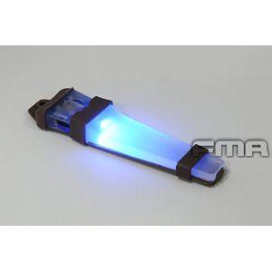 WorldShopping4U Casque sécurité Velcro H414V-Lite Sac à LED E-Lite lumière stroboscopique (Bleu, Vert, Rouge) Lampe Torche Tactique de Base pour extérieur Airsoft Chasse Camping Bleu Bleu (WorldShopping4U, neuf)