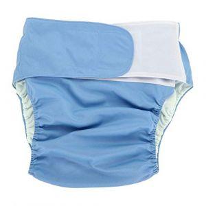 Couches adultes de 4 couleurs adultes couches réutilisables couche lavable réglable grande pour pour les femmes, hommes bariatrique, personnes âgées, patients incontinence(Blue305) (Yotown-eu, neuf)