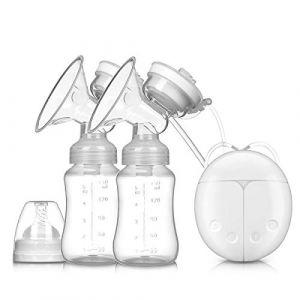 SONARIN Tire-lait électrique Double pompage Prolactine Massage Automatique,8 niveaux 2 modes,interface USB(Blanc) (SONARIN FR, neuf)