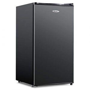 DREAMADE Mini-Réfrigérateur, Capacité 91L, 230V, 50HZ Frigo Combiné avec 4 Niveaux de Clayettes, Compartiment à Légumes, Faible Niveau Sonore, Classe Energétique A+ (noir) (DREAMADE, neuf)