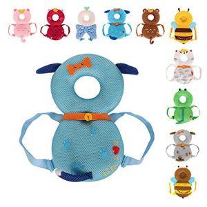 Amooy DiZi Casque Protection Baby Tête Pad Sac à Dos Sangle Réglable sécurité de bébé pour proteger enfant bébé prévenir la tête blessée (Chien Bleu) (SUNNYKING, neuf)