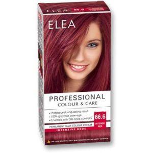 ELEA PROFESSIONAL CREME DE COLORATION PERMANENTE POUR CHEVEUX 6.66 rouge intense AVEC COMPLEXE DE SOIN D'HUILES (My_Beauty_Box, neuf)