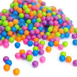 LittleTom 400 Boules colorées Ø5,5cm piscines Enfants Couleurs Pastel (einspreis, neuf)