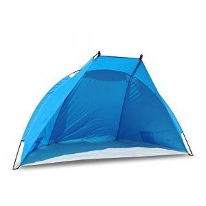 Outdoorer - tente de plage parasol coupe-vent Helios bleu, très légère UV 60 (Outdoorshop123, neuf)