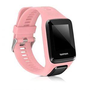 kwmobile Bracelet Compatible avec Tomtom Adventurer/Runner 3/Spark 3/Golfer 2 - Bracelet de Rechange en Silicone pour Fitness Tracker Or Rose (KW-Commerce, neuf)