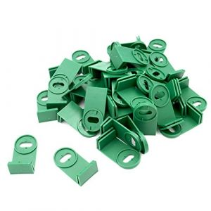 KINGLAKE 50 pcs Serre Coin Clips de Fixation pour Serre ombrage Isolation à Bulles (JH Gardening, neuf)