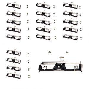 TUKA-i-AKUT 20 Pinces à Presse-papiers, avec porte-stylo, avec Poignée en Caoutchouc et Trou de Suspension, Clipboard Clips Métalliques, Pince Plate à ressort pour Porte-bloc, Lot de 20, TKD8501 (TuKai, neuf)