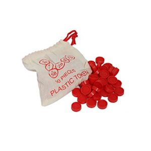 90 jetons numérotés en plastiques rouge (CARTALOTO, neuf)