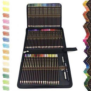 72 Meilleur Crayons de Couleurs Outils à dessin,Sets de dessin crayon de bois en Zipper Pencil Case-Coffret de kit dessin professionnel crayon couleur-Cadeau Ideal pour Enfants, Adultes et Artistes. (shengshumaoyi, neuf)