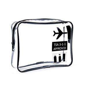 Zhicaikeji Trousse de toilette transparente, sac de rangement écologique pour le voyage, trousse de toilette imperméable et portable de grande capacité (zhicaikeji, neuf)