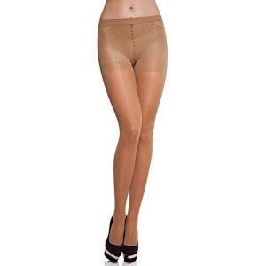 Merry Style Collant Sous-vêtement Minceur Gainant Push Up Femme MS 128 40 DEN (Beige, S) (Hisert, neuf)