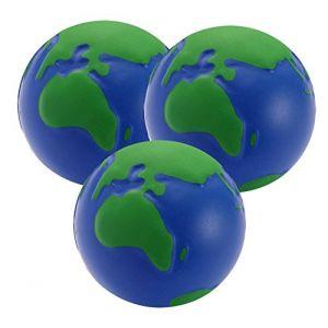 Balle Anti Stress - 3 x Globe balle de stress - parfaite pour évacuer le stress/anxiété (StressCHECK, neuf)