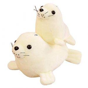 Peluche jouet animal en peluche marin monde sous-marin joint lion de mer oreiller poupée enfants cadeau d'anniversaire-blanc_35 cm (lizhaowei531045832, neuf)