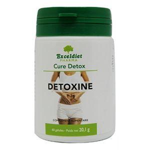 DETOXINE 60 GELULES - Cure détox de 15 jours, nettoyage du colon et des intestins - Colon cleanse - Cure minceur et ventre plat. Exceldiet, la marque Verte. (EXCELDIET PHARMA, neuf)