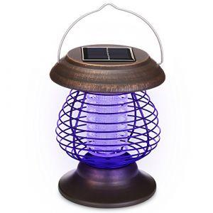 Serria 1/2 Pcs Énergie solaire Lampes de tueur de moustique Lampe portative de moustique électrique Lampe UV Tue-Mouches Destructeur d' Insectes Electrique Tue Mouche Electrique Lampe Insecte (Serria, neuf)