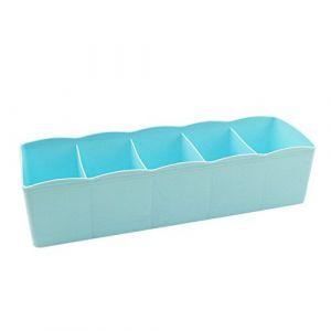 5 cellules en plastique organisateur boîte de rangement cravate soutien-gorge chaussettes tiroir diviseur cosmétique BU maison et jardin ménage et organisateurs (FOOD HINK, neuf)