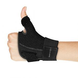 Bonmedico® Forte – Orthèse de pouce souple avec attelle, support pour protection de lÂ'articulation métacarpophalangienne et de la racine du pouce, (Bonstato, neuf)