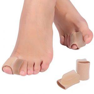 orteils séparateurs, 1 paire de protège-orteils Straighters Tube de manchon de correcteurs avec gros espaceurs de gel d'orteil Bandage (Kireina-eu, neuf)